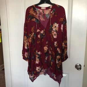Altar'd state floral tunic dress